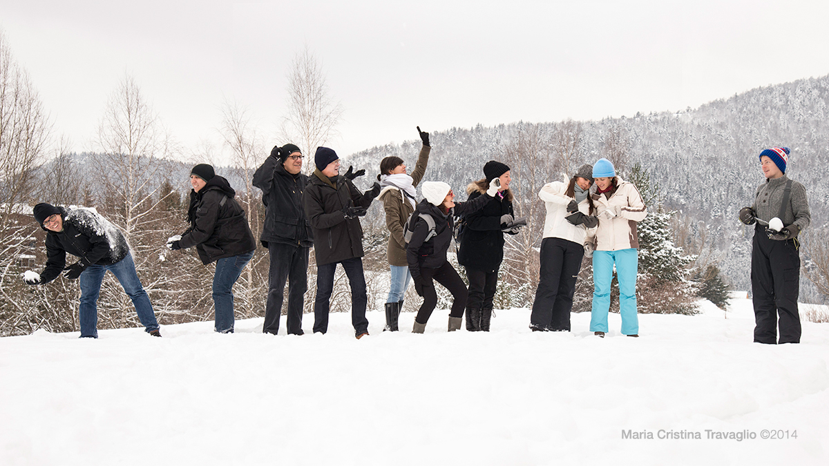 Snow lesson for the Tropical people